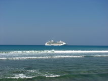 CRUISE SHIP AT PATONG BEACH Royalty Free Stock Image
