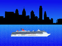 Cruise ship in Philadelphia Royalty Free Stock Image