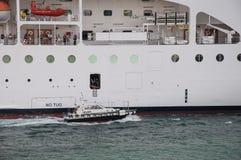 Cruise ship pilot embarking Stock Photo