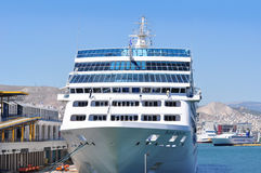 Cruise ship, Piraeus, Greece Royalty Free Stock Photos