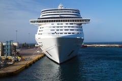 Cruise ship at Piraeus port Stock Photography
