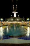 Cruise Ship Pool. Night exposure of a cruise ship pool with natural blurr of the water due to long exposure Stock Image