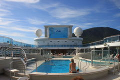 Cruise-ship pool Royalty Free Stock Images
