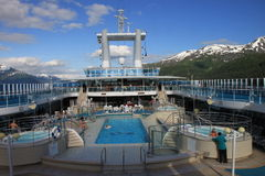 Cruise-ship pool Royalty Free Stock Photo