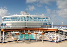 Cruise ship pool Stock Photo