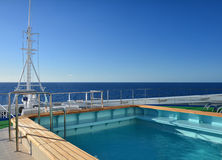 Cruise ship pool Stock Image