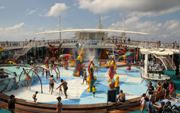 Cruise ship pool deck Stock Photography