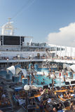 Cruise ship pool deck Stock Image
