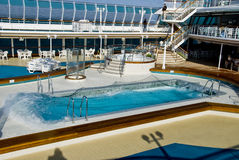Cruise Ship Pool Wave Royalty Free Stock Photos
