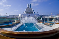 Cruise Ship Pool Wave Stock Photo