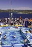 Cruise Ship -  Poolside off the Island of Roatan Royalty Free Stock Photo