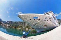 Cruise ship in the por Stock Photos