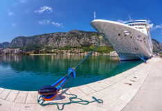 Cruise ship in the por Stock Photos