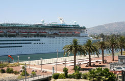 Cruise Ship in Port Royalty Free Stock Photo