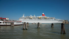 Cruise ship in port. Stock Image