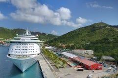 Cruise ship at Port. A cruise ship at the port at St. Thomas, U.S. Virgin Islands Stock Photography