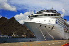 The cruise ship in port Royalty Free Stock Images