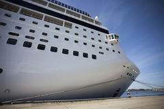 Cruise ship in port Stock Photo