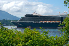 Cruise ship at port in Alaska. Cruise ship in port in Sitka Alaska Stock Images