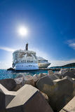 Cruise ship in the port Stock Image