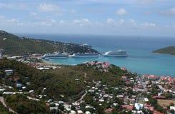 Cruise ship docked. stock photo