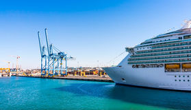 Cruise ship in the port Stock Images