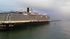 Cruise ship at the port stock video