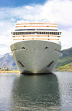 Cruise ship in the port of Flaam Royalty Free Stock Photography