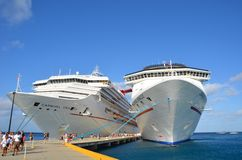 Cruise ship port Grand Turk Stock Photography