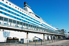 Cruise ship in the port of Helsinki. In Finland Stock Photography