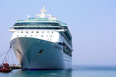 Cruise ship in port Stock Photos