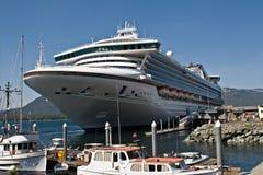 Cruise Ship in Port in Ketchikan,  Alaska Royalty Free Stock Photo