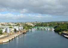 Cruise ship port in La Romana Royalty Free Stock Photo