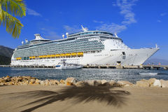 Cruise Ship in port Stock Image