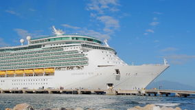 Cruise Ship in port stock footage