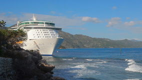 Cruise Ship in port stock video footage