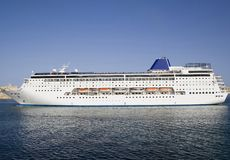 Cruise Ship in port of Malta. Cruise ship with passengers in port of Malta Stock Photo