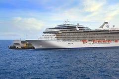 Cruise Ship in port of Monte Carlo Stock Photos