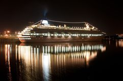 Cruise ship in the port of Montreal Stock Image