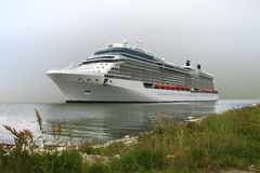 Cruise ship. In port of Ravenna ,Italy Royalty Free Stock Photo