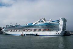Cruise ship in port of San Francisco, California Stock Photo