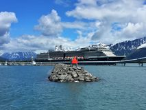 Cruise ship in Alaska royalty free stock images