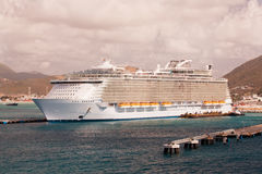 Cruise Ship in Port at St. Maarten Royalty Free Stock Photo