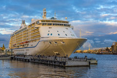 Cruise ship at the port. St. Petersburg, Russia Royalty Free Stock Photo