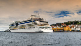 Cruise ship at port of Stavanger Stock Photography