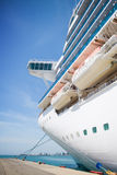 Cruise ship in the port royalty free stock photos