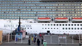 Cruise Ship at Port stock video footage
