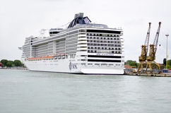 Cruise ship in the Port of Venice, Italy Royalty Free Stock Photo