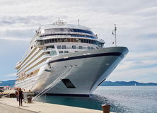 Cruise ship. In the port of Zadar Royalty Free Stock Photo