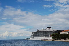 Cruise ship. In the port of Zadar Stock Photo